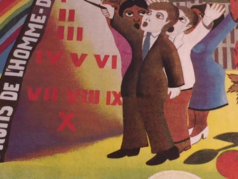 a portion of a painting by the Haitian artist Jacques-Richard Chéry which belongs to Maple Grove United Church.