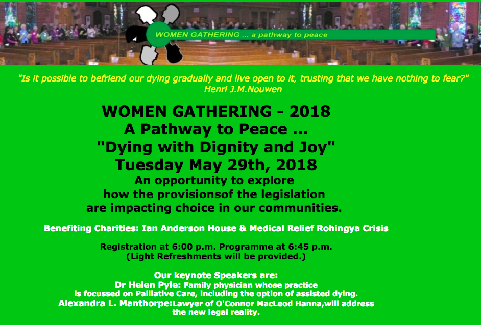 Women Gathering - Dying with Dignity