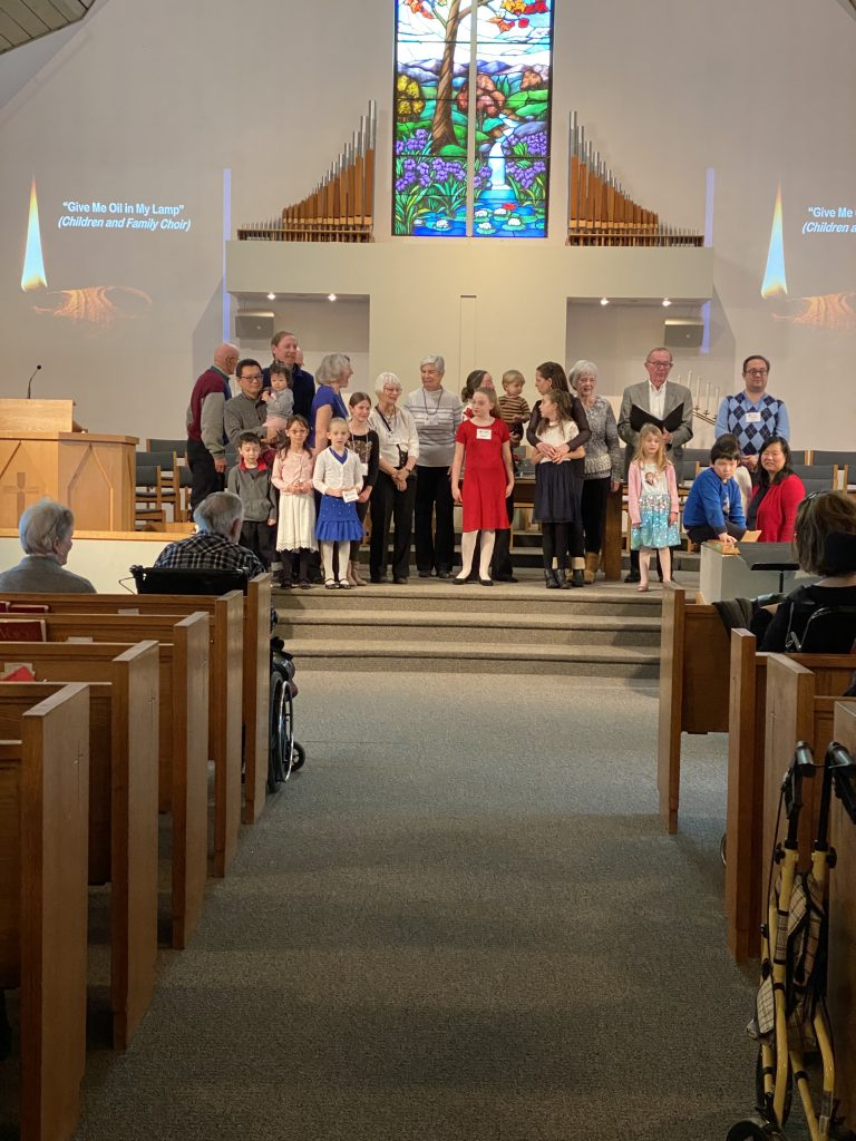 MGUC children and families at the Hymn-Sing Service