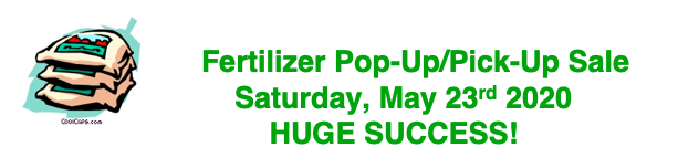 Fertilizer Pop-Up/Pick-Up Sale 2020