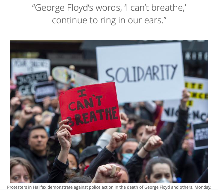 Halifax Protest over death of George Floyd
