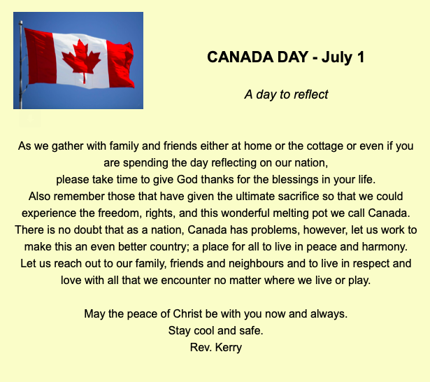 Canada Day Reflection